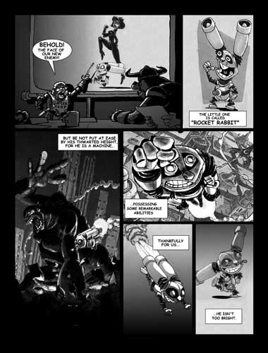 Nerve Bomb Comix issue ZERO preview pages