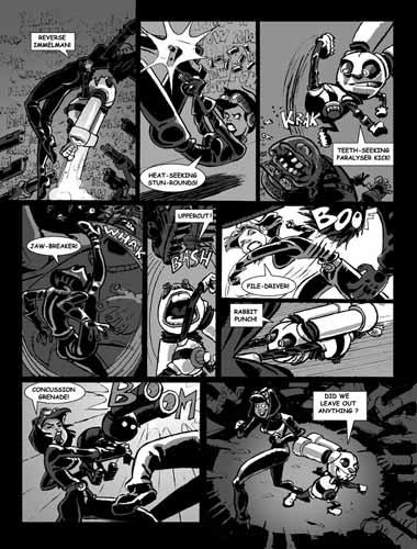 ROCKET RABBIT comics