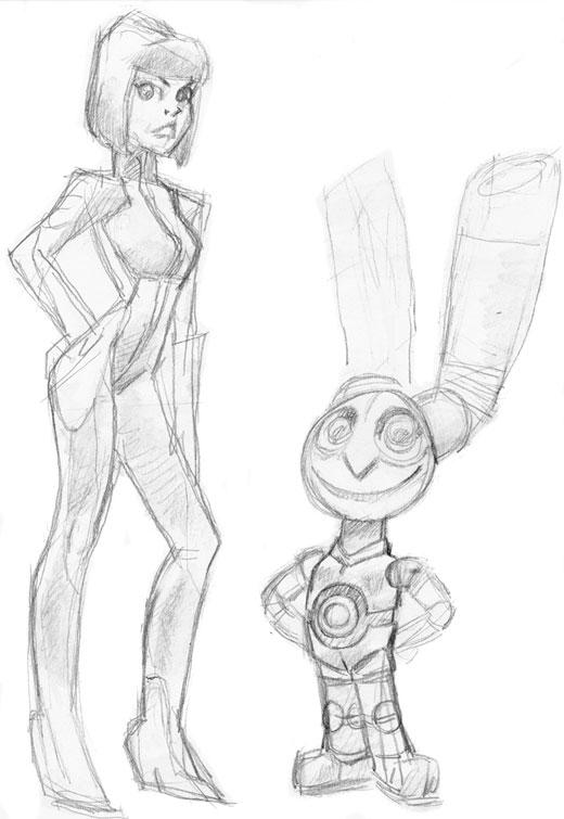 Rocket Rabbit and the Professor