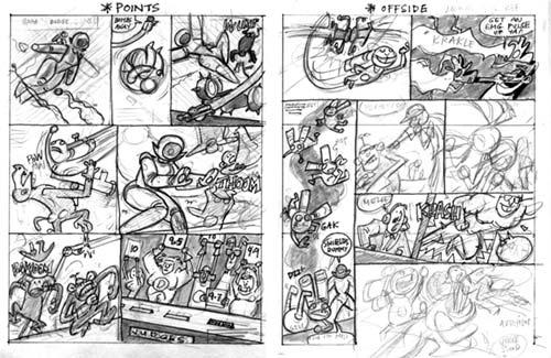 ROCKET RABBIT comic thumbnails